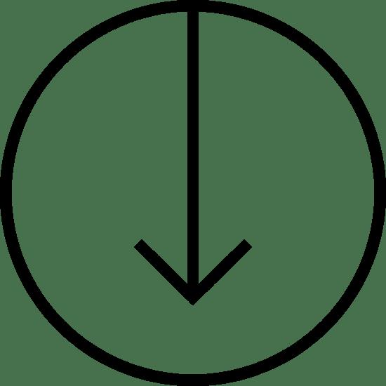 Thin Arrow Circle