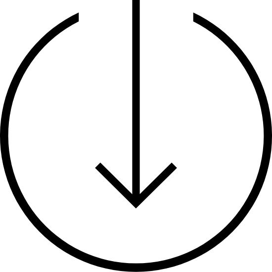 Thin Arrow Semicircle