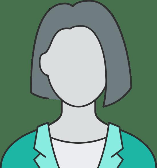 Short Straight Hair Woman