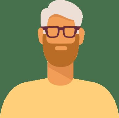 White Hair Brown Beard