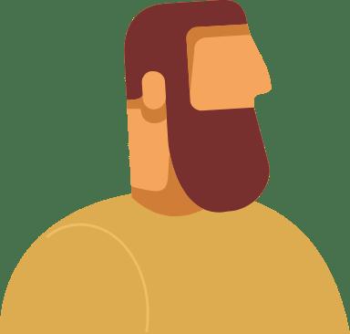 Long Beard Profile Man