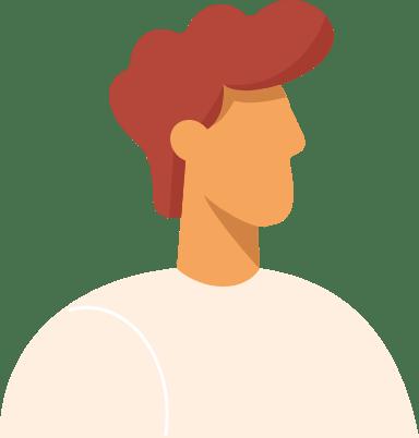 Curly Redhead Profile Man