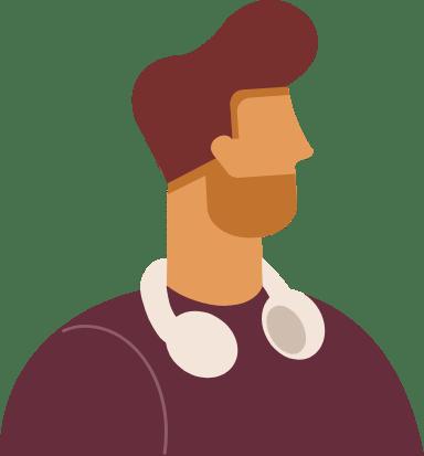 Headphones Profile Man