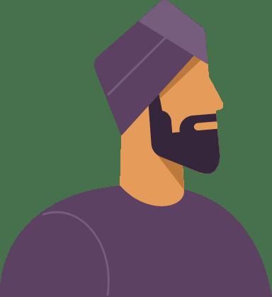 Turban Profile Man