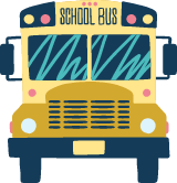 Drawn School Bus Front