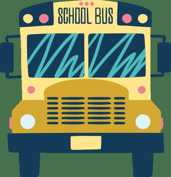 Drawn School Bus Front
