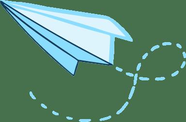 Drawn Paper Plane