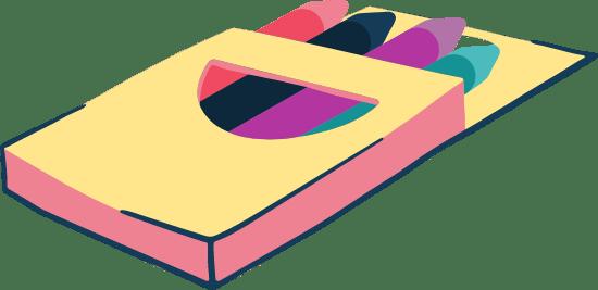 Drawn Crayon Box