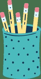 Drawn Pencil Holder