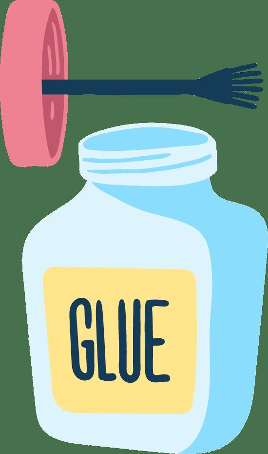 Drawn Glue Brush