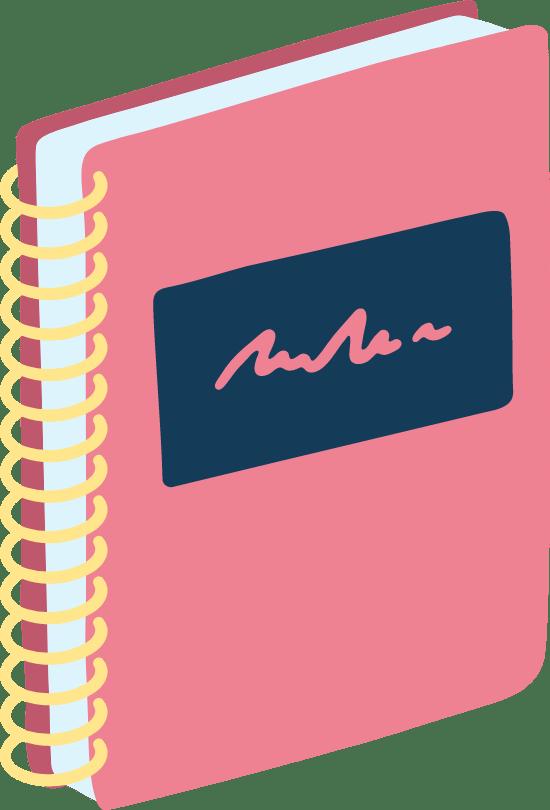 Drawn Spiral Notebook