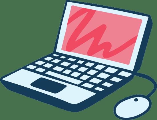 Drawn Laptop Computer