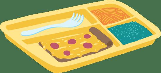 Drawn Lunch Tray