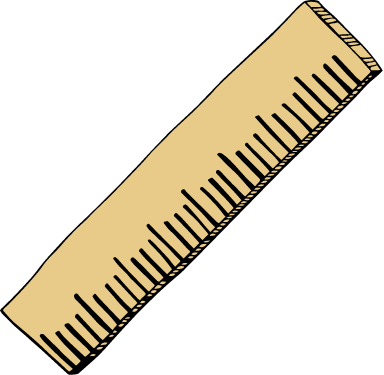 Drawn Wooden Ruler