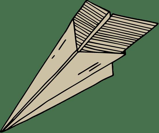 Drawn Paper Airplane