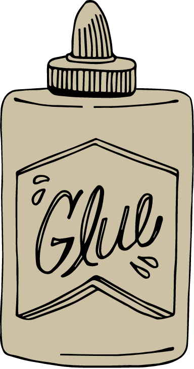 Drawn School Glue
