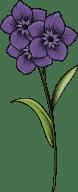Stemmed Flower Trio