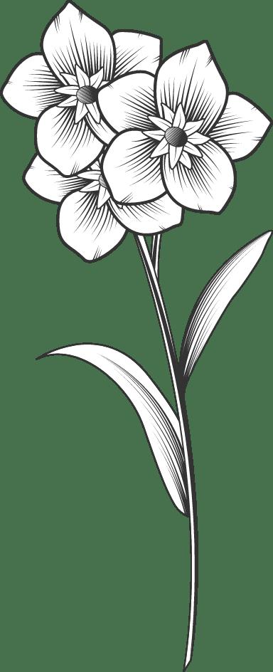 Stemmed Flower Trio 02