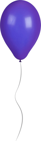 Shiny Purple Balloon