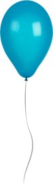 Shiny Blue Balloon