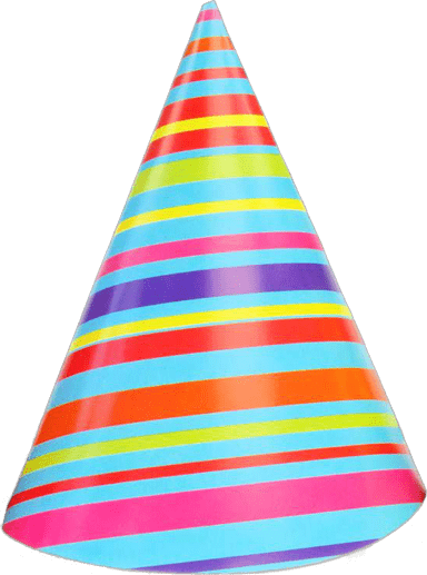 Striped Party Hat