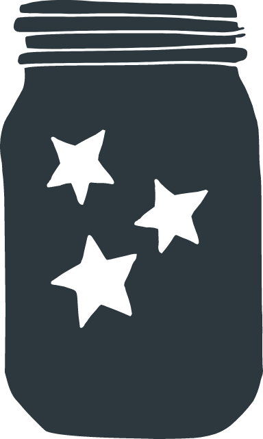 Three-Star Mason Jar