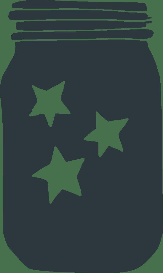 Three-Star Mason Jar