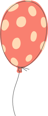 Polka Dotted Balloon