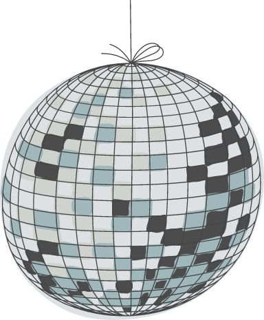 Spinning Disco Ball