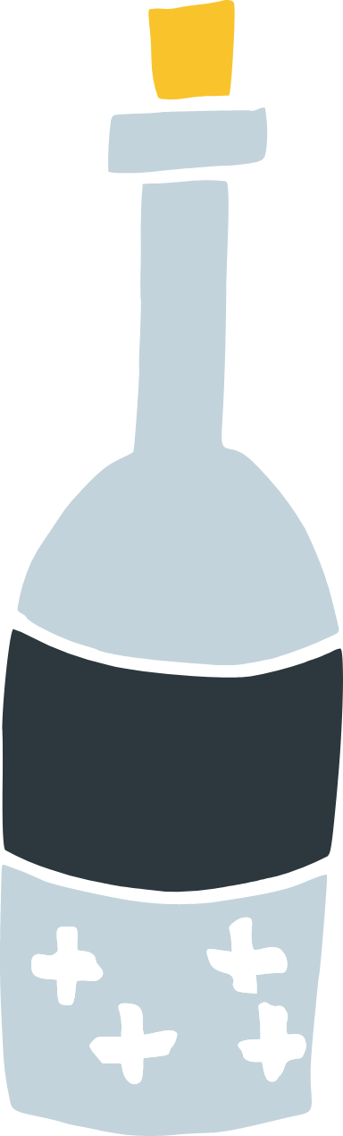 Sealed Wine Bottle