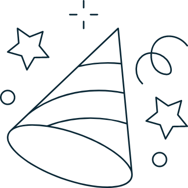 Sparse Party Hat