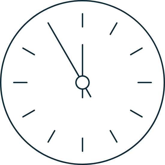 Sparse Countdown Clock