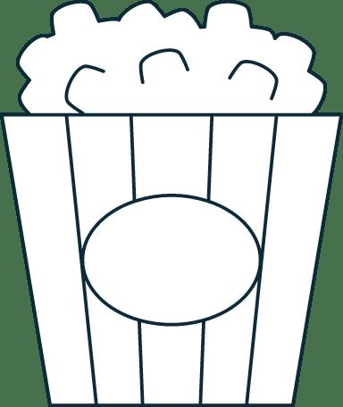 Sparse Popcorn Tub