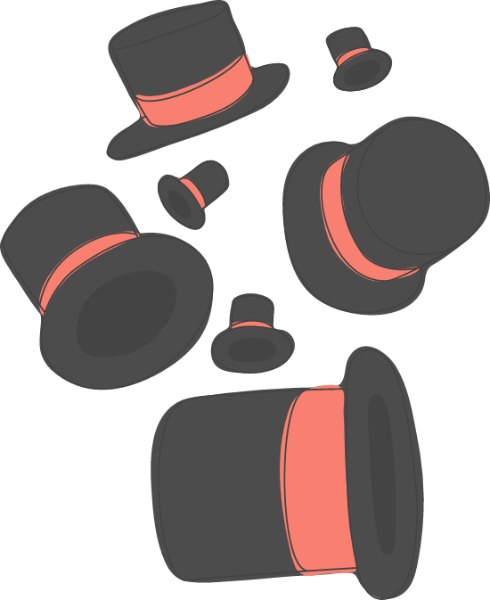Banded Top Hats
