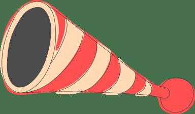 Striped Clown Horn