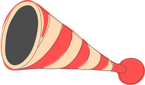 Striped Clown Horn