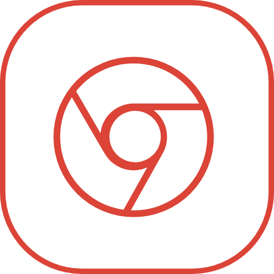 Chrome in Rounded Square 3
