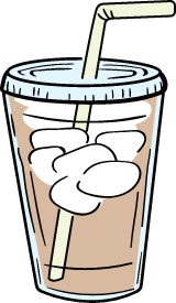 Iced Coffee & Straw