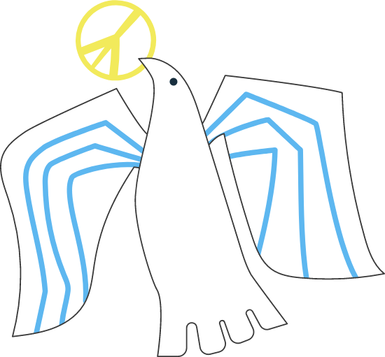 Peace Sign Dove
