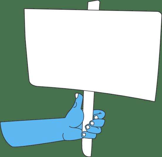 Handheld Sign
