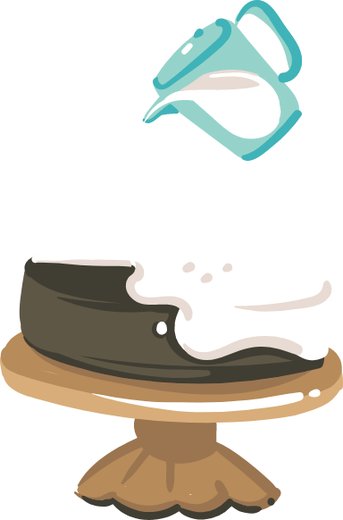 Pouring Frosting