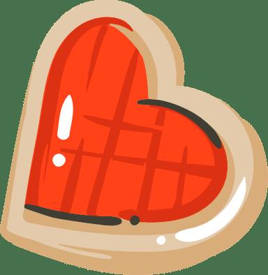 Jam Heart Cookie