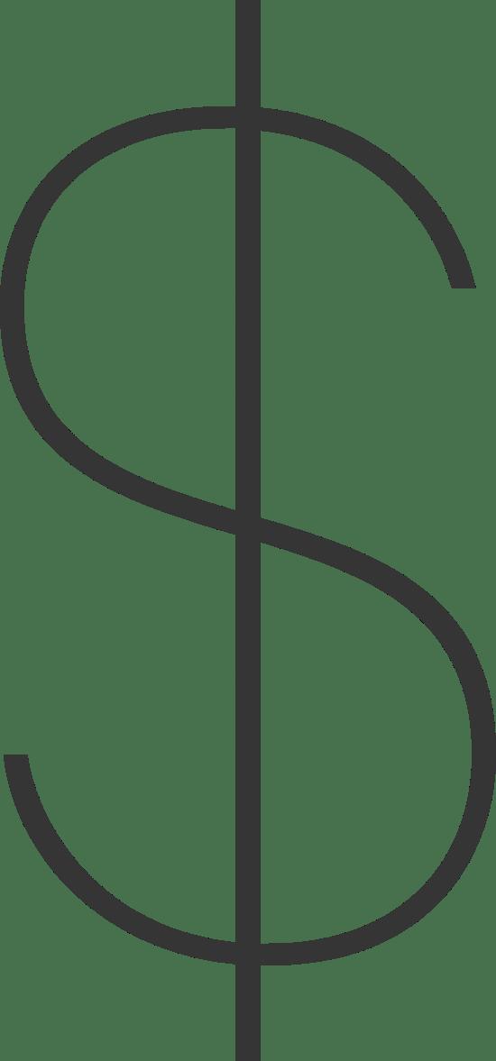 Minimalist Dollar Sign