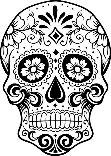 Crown Sugar Skull