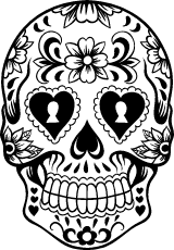 Heart Sugar Skull