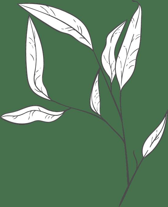 Leaning Leaf Arrangement