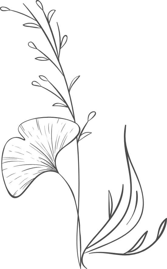 Plain Gingko Arrangement