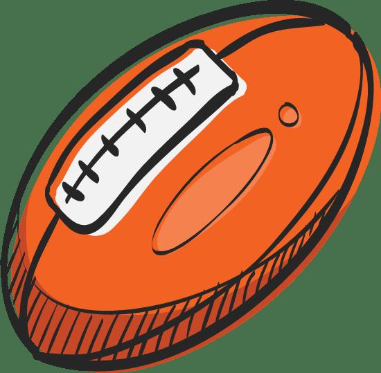 Shaded Football