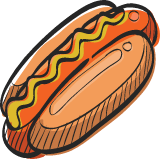 Stadium Hot Dog