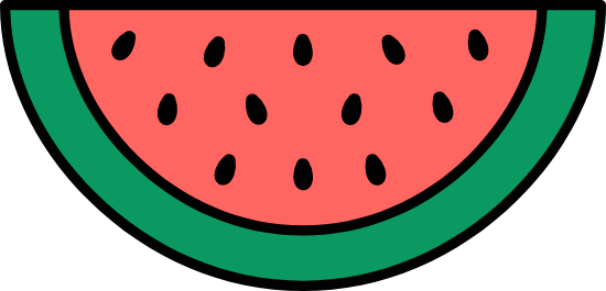 Outlined Watermelon